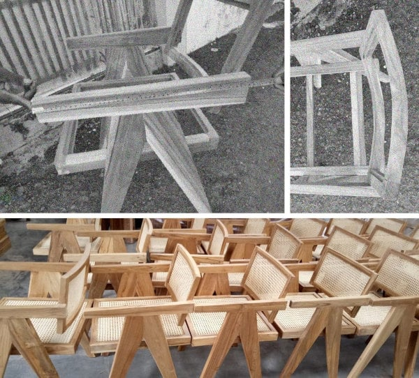 Pierre Jeanneret Stühle Indien Bauhaus