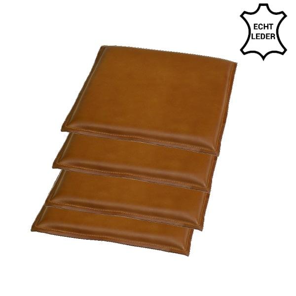 Stuhl Sitzpolster Leder 4er-St