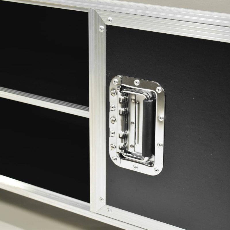 TV Lowboard Flightcase Design schwarz