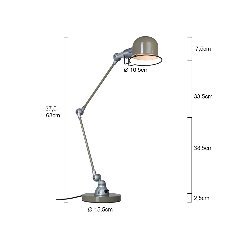 Schreibtischlampe Homeoffice Fabrikschick Abmessungen