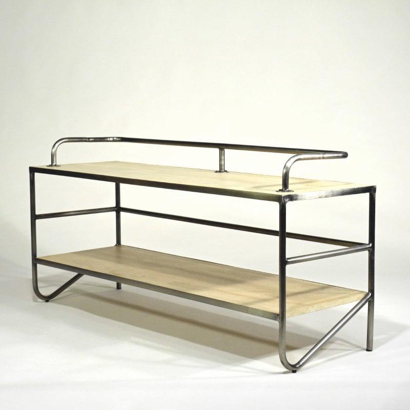 Lowboard TV Holz Stahlgestell