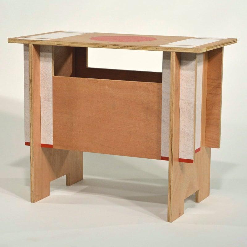 Steckhocker Holz puristisches Japan Design