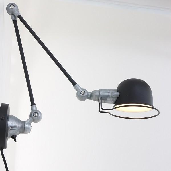Leselampe Bettlampe schwarz Industrial Fabrik-Stil