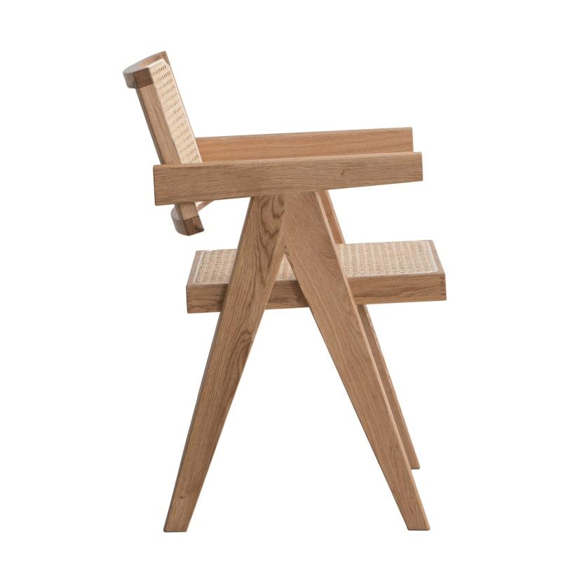 Stuhl Eichenholz Jeanneret Stil