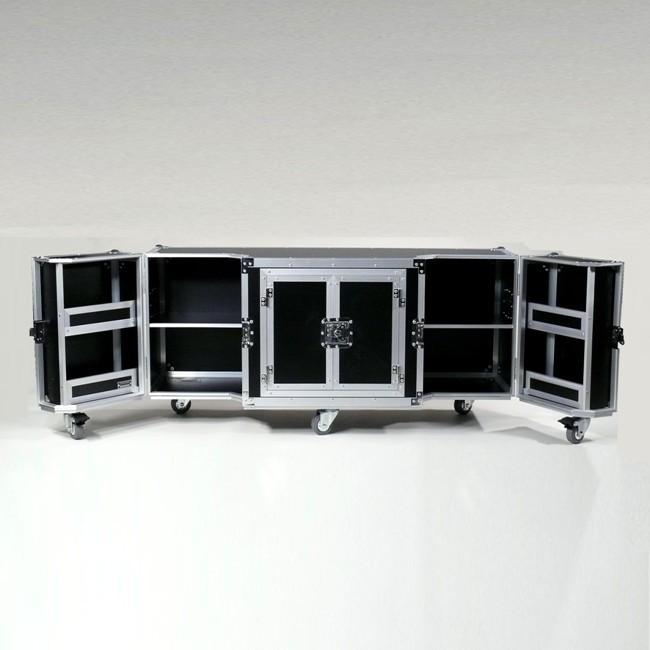 Case Design TV Lowboard schwarz Alu