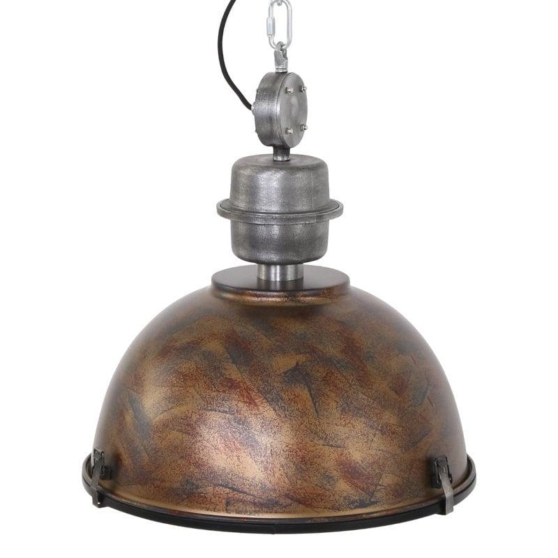 Deckenlampe im Industrial Vintage Design kupferfarben