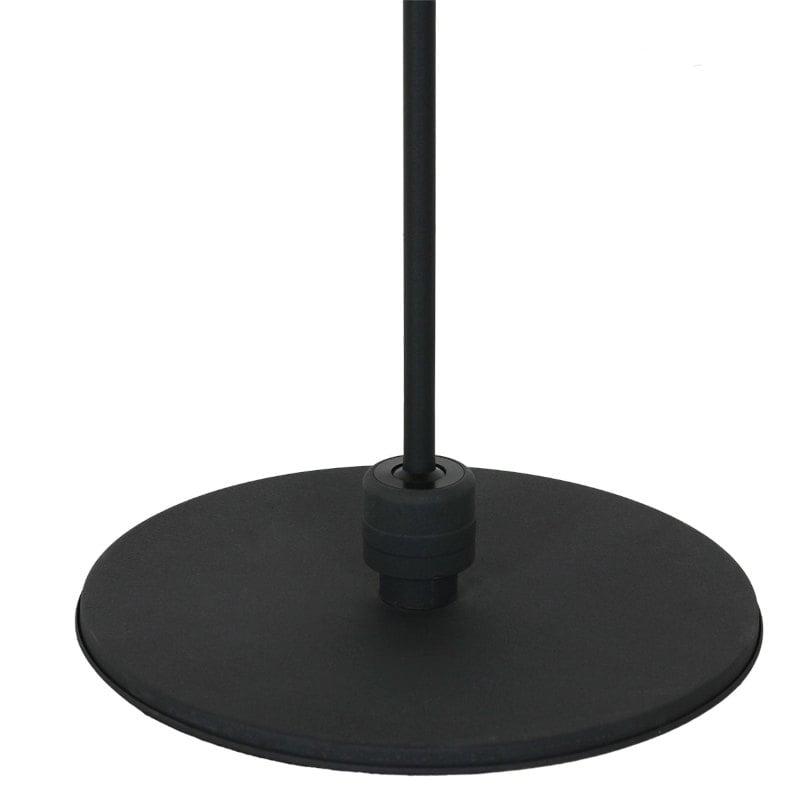 Vintage Stehlampe schwarz schwerer Fuss stabil
