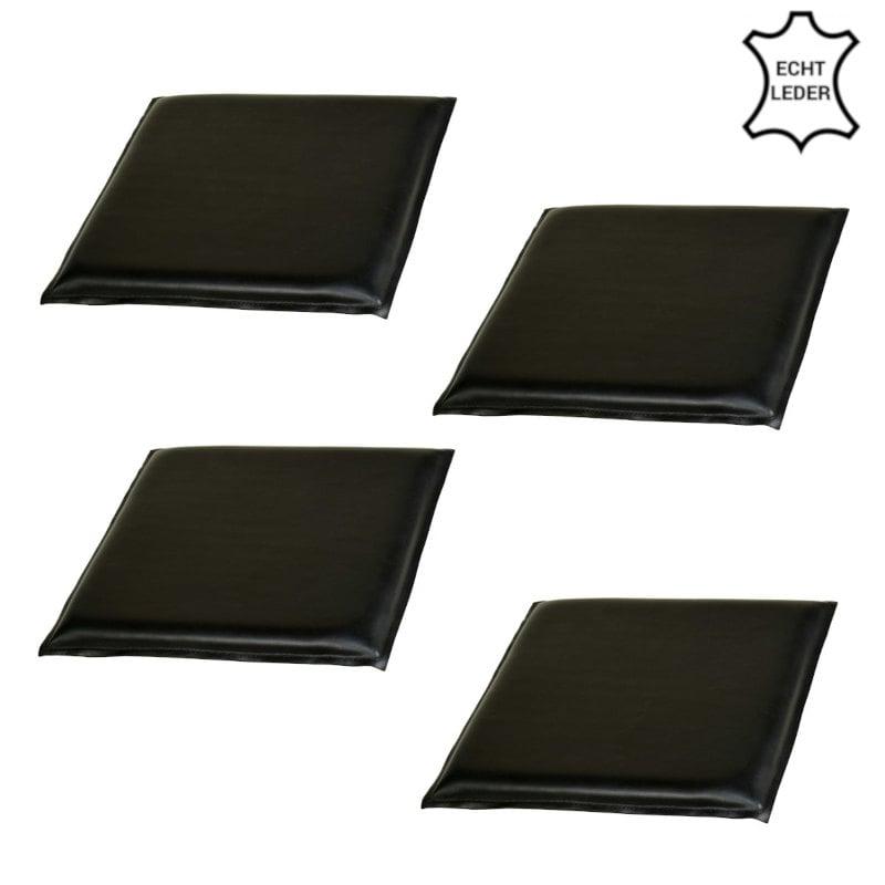 Leder-Sitzkissen schwarz