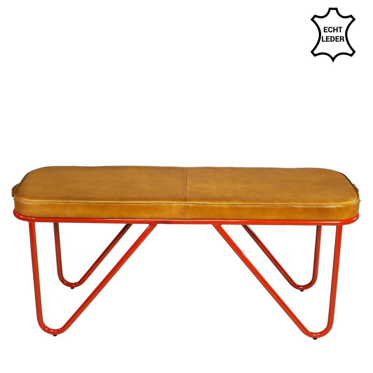 Turnhallen Möbel Sitzbank Gestell rot