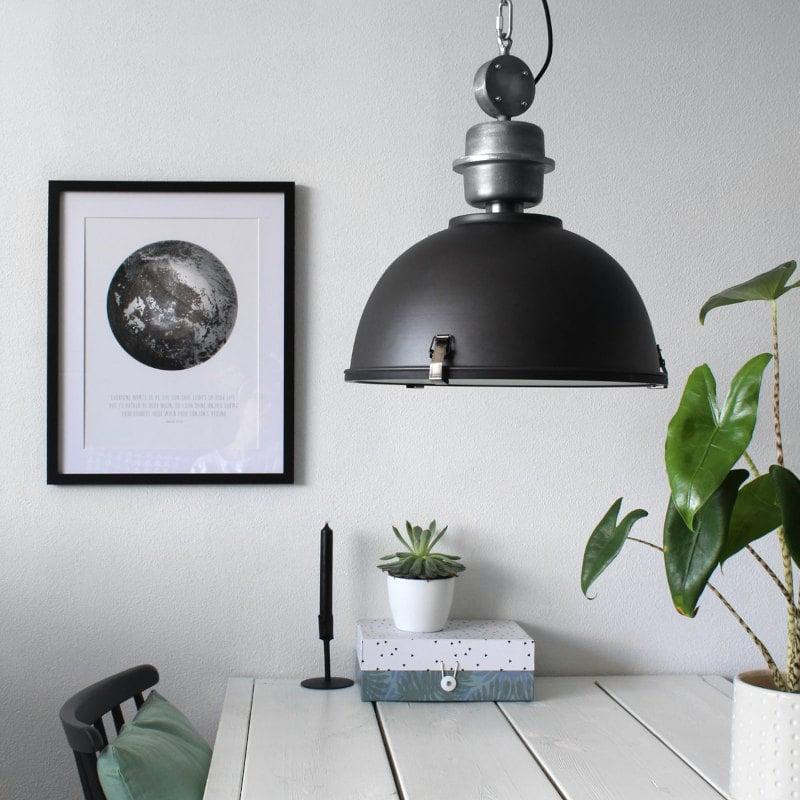 Hängelampe wie alte Industrie Fabriklampe