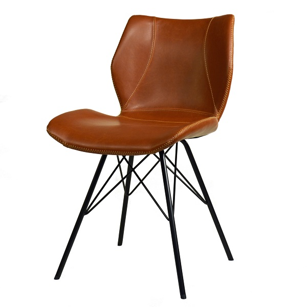 Industrial Vintage Design Stuhl braun