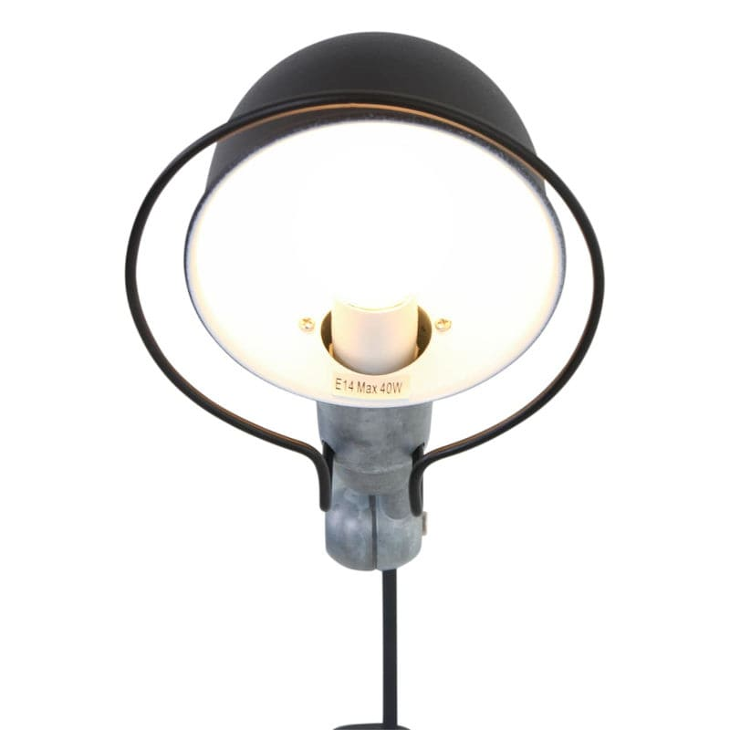 Factory Stil Wandlampe schwarz mit Roheisen