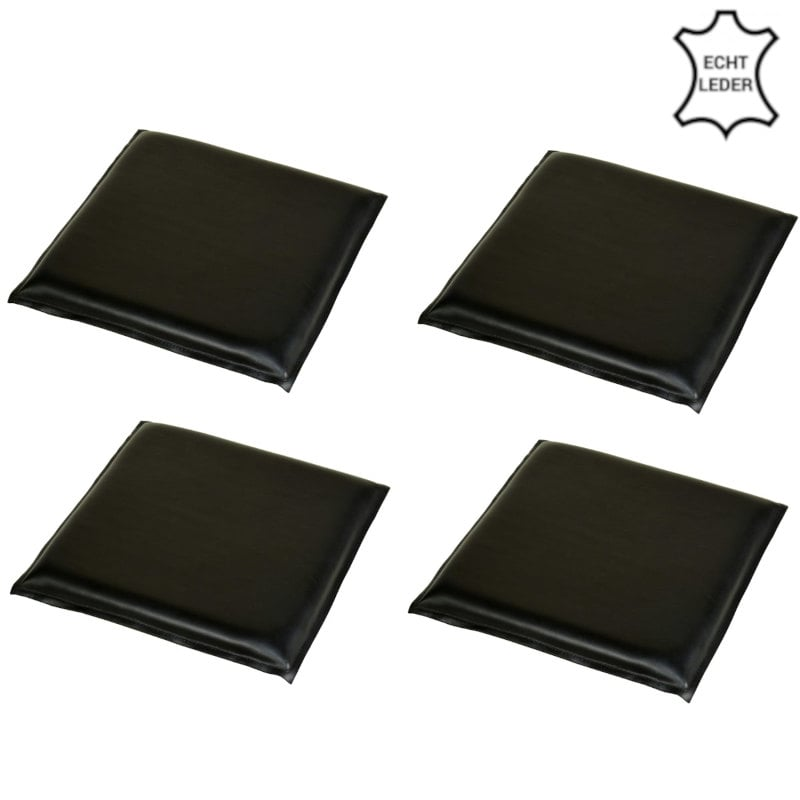 Büffeeleder Sitzauflage schwarz 4 Stück