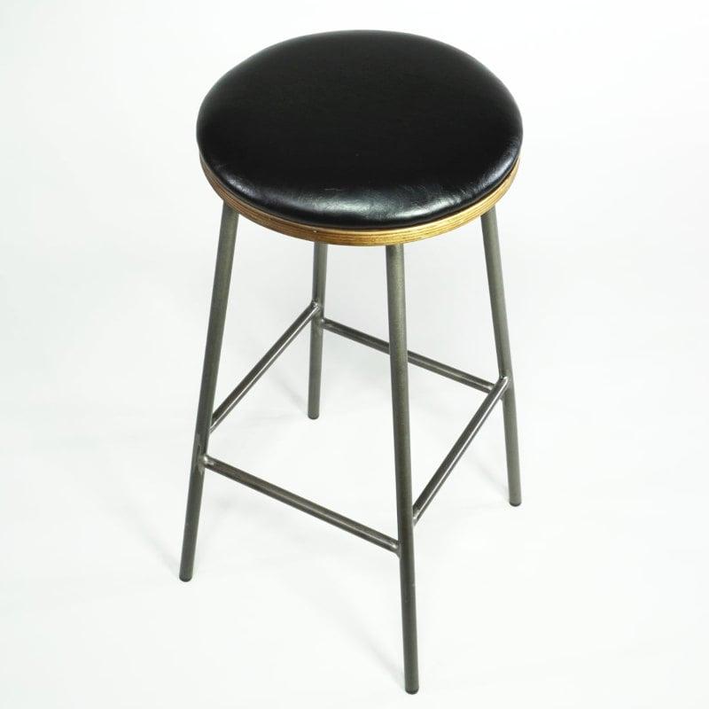 Design Barhocker Industrial Stahl Sitz schwarz
