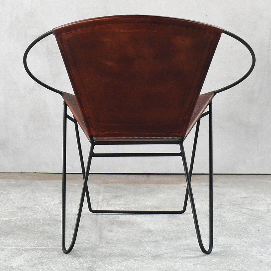 Brauner Leder Lounge-Sessel