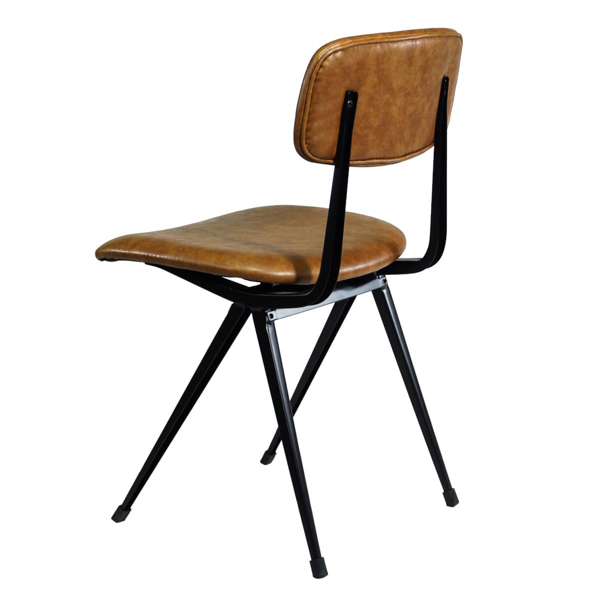 Stuhl braun gepolstert
