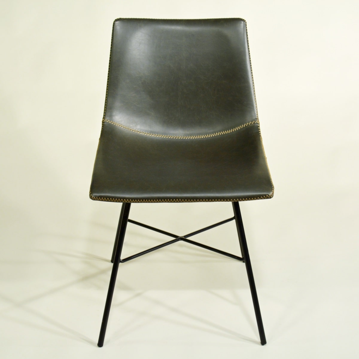 Esszimmerstuhl gepolstert grau Vintage Industrial
