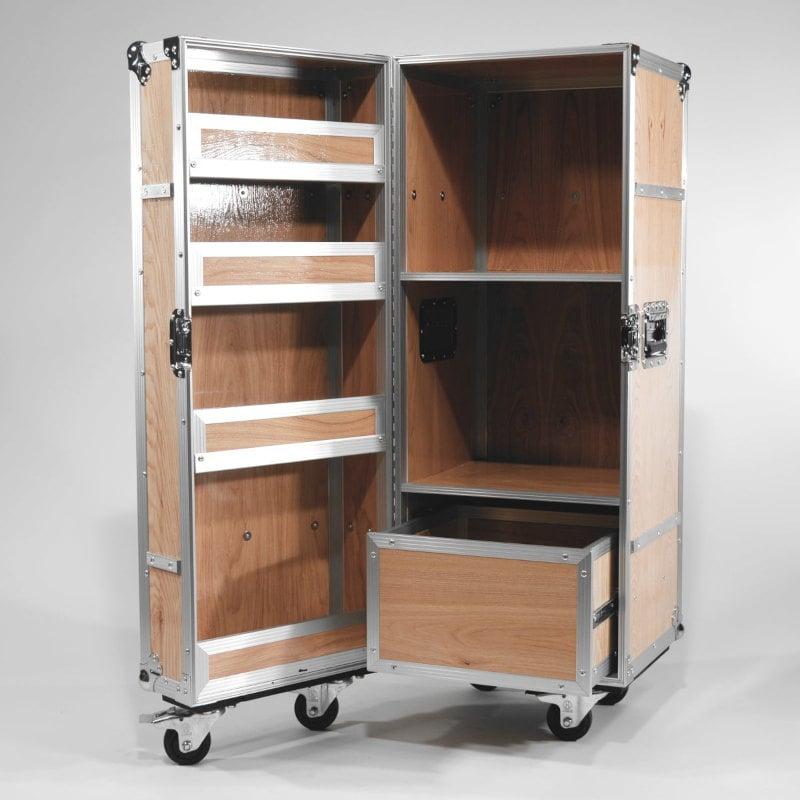 Mobiler Rollcontainer Holz Case Design