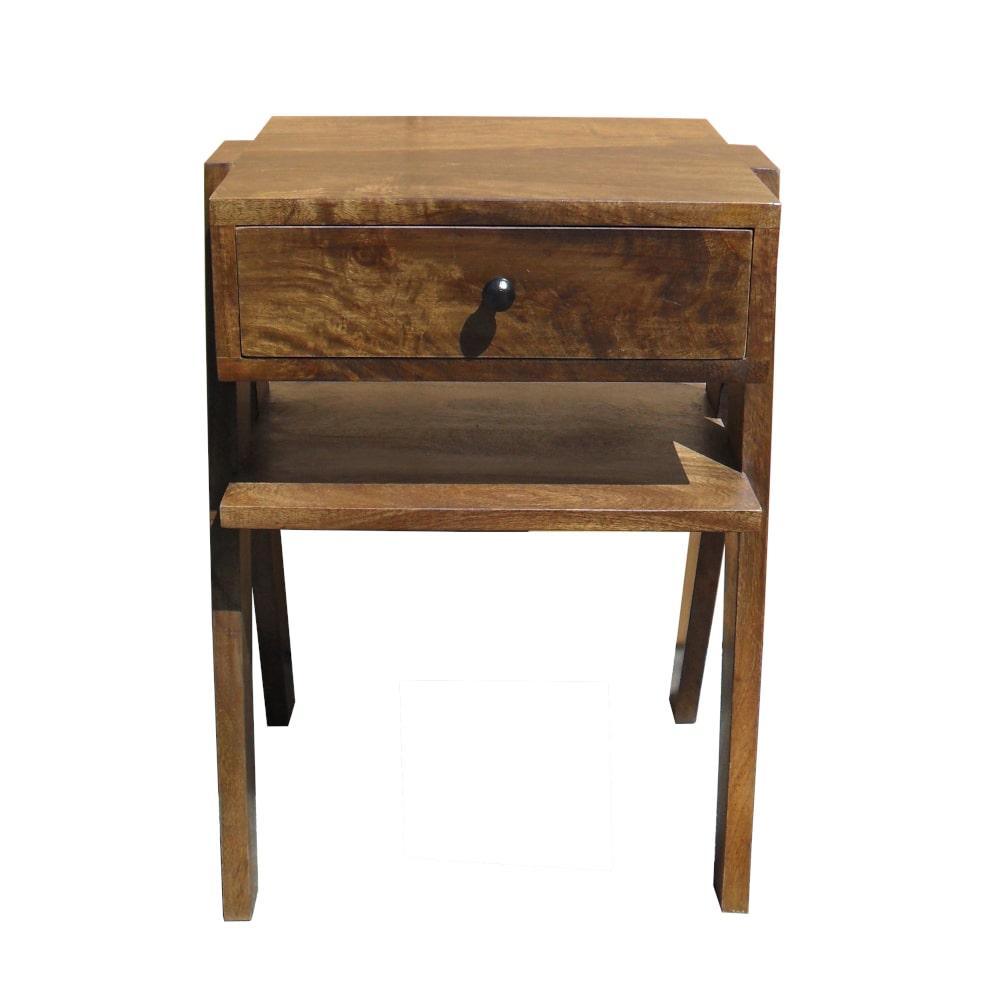 Beistelltisch Nachttisch Schublade Vintage