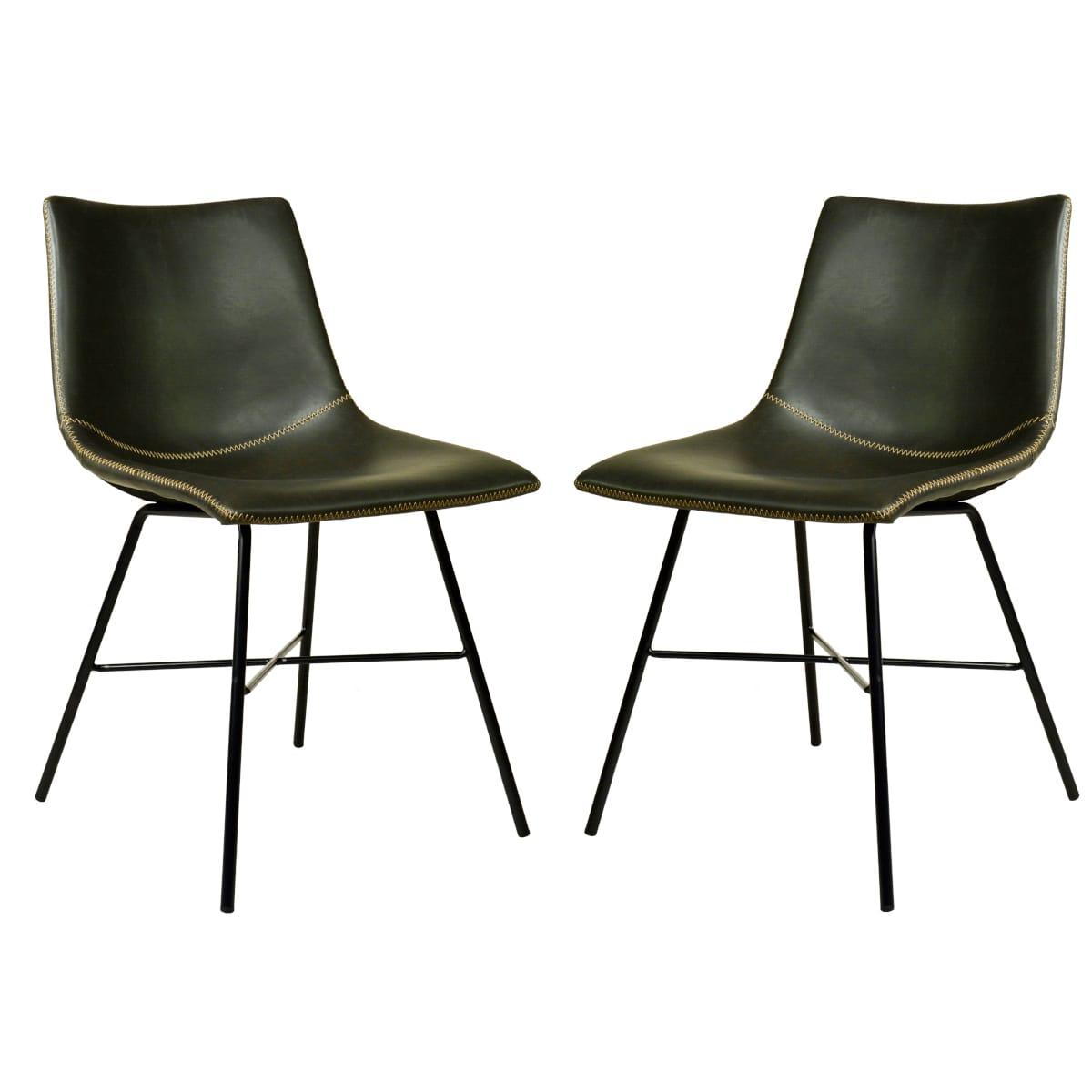 Stuhl anthrazit gepolstert Metallgestell