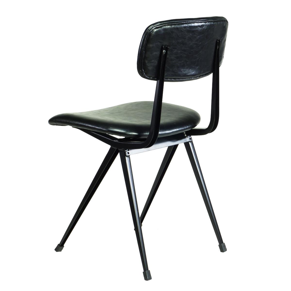 Stuhl schwarz Vintage Design Klassiker gepolstert