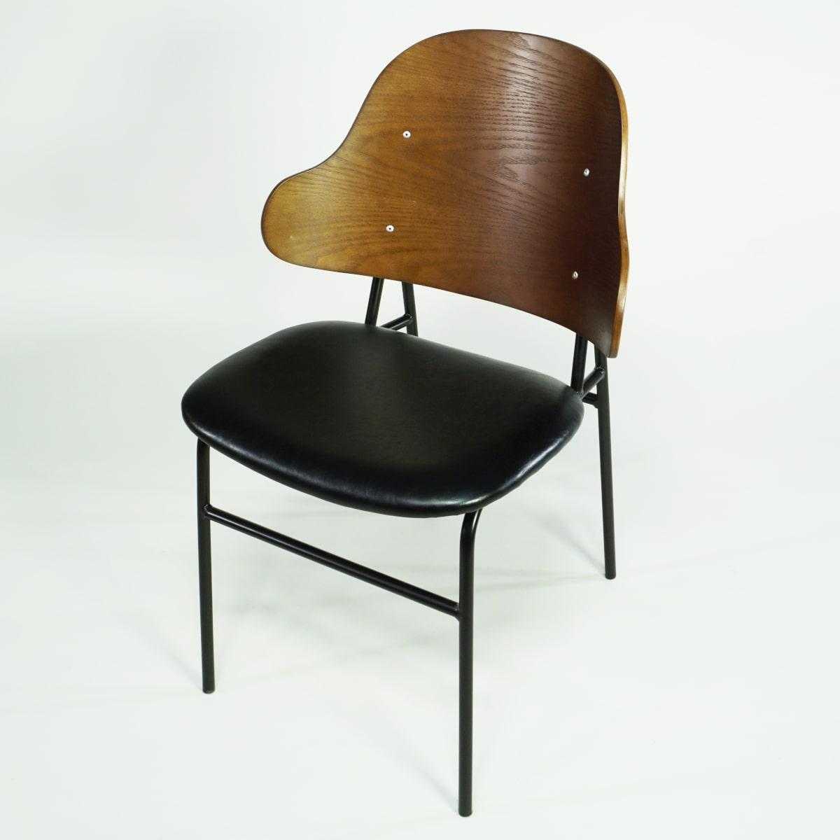 Esszimmer Design Stuhl Holz Metall