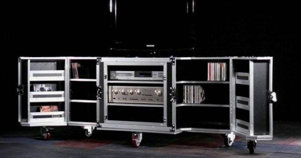 Design TV Möbel Flightcase