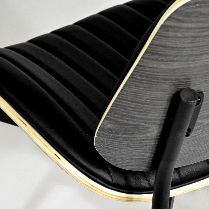 Stuhl für Esszimmer schwarz gepolster und Formholz