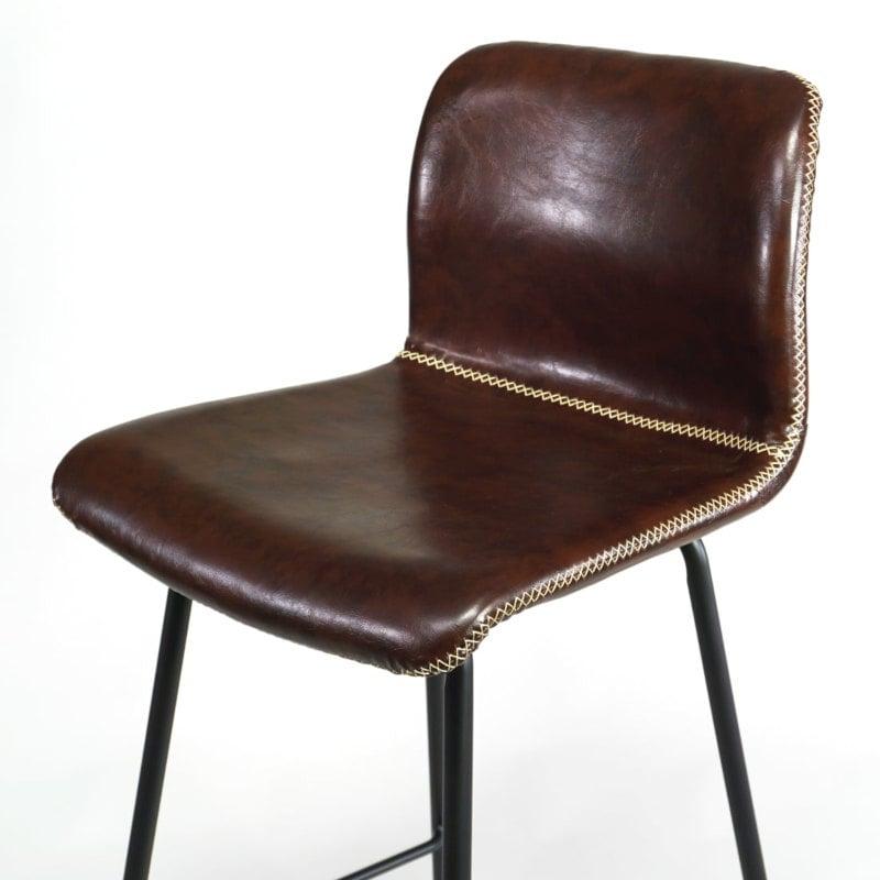 Barstuhl Industrial Vintage braun Rückenlehne
