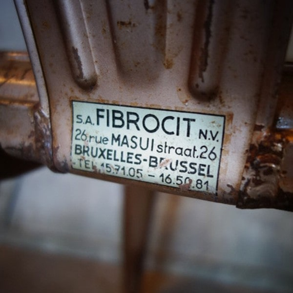 Original französische Fibrocit Stuhl