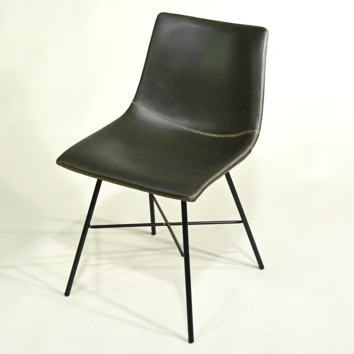 Gepolsterter Stuhl anthrazit Industrial Style
