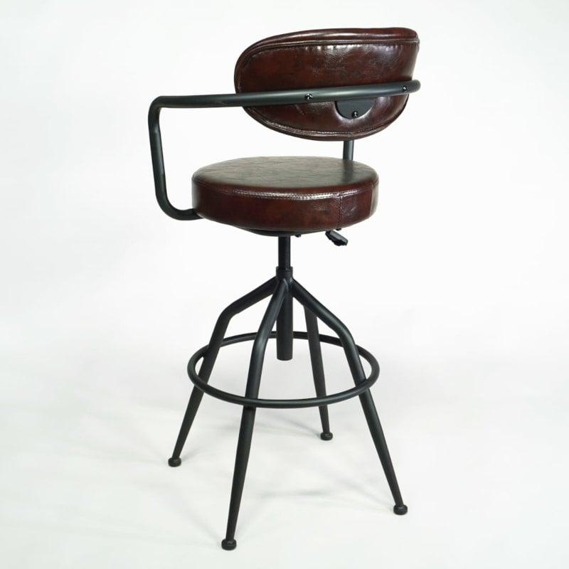 Dreh-Barhocker gepolstert vintage industrial Stil
