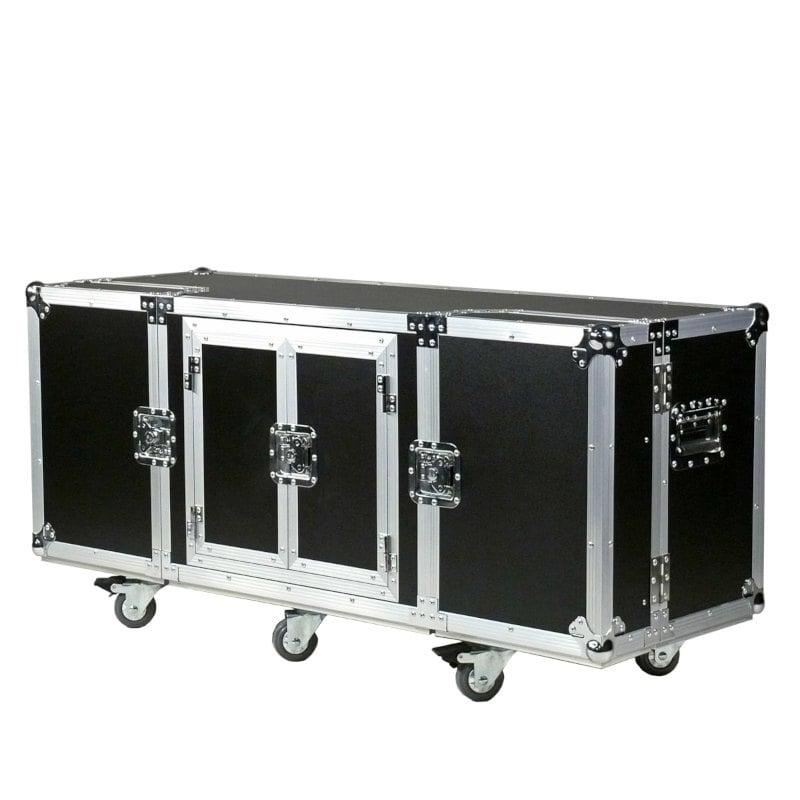 TV Media Flightcase schwarz rollbar