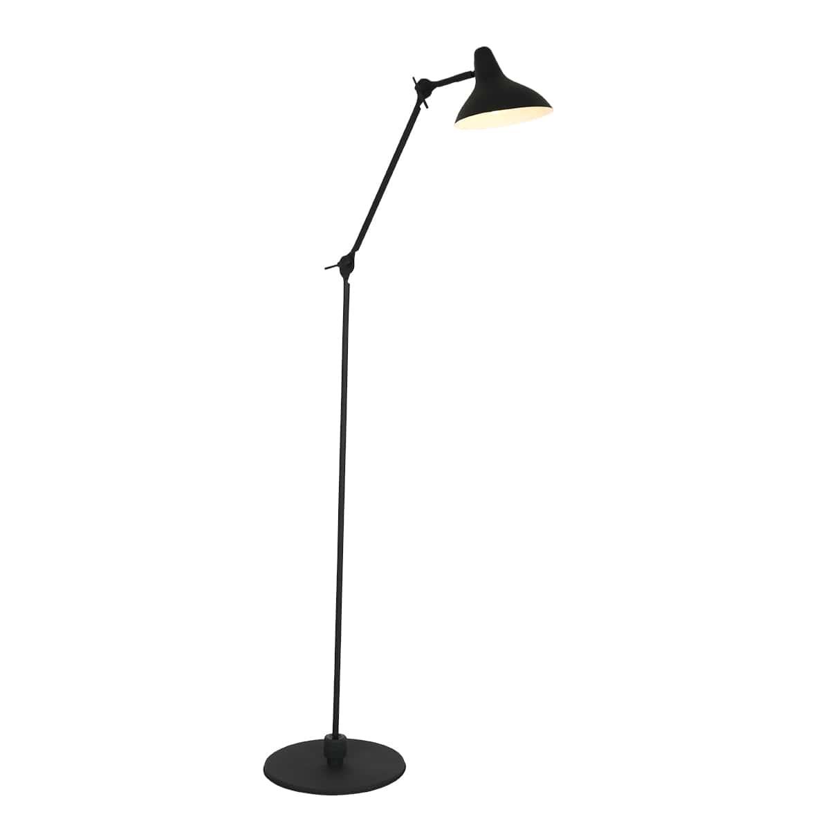 Vintage Retro Design Stehlampe schwarz Fabrikschick