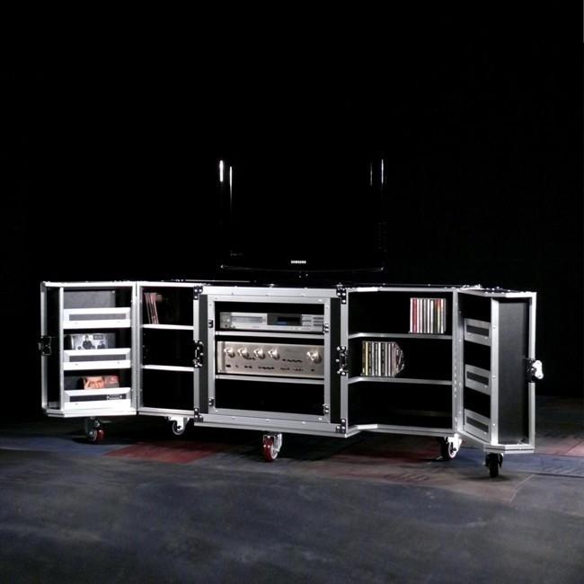 Großes TV Möbel mobil Case Design schwarz