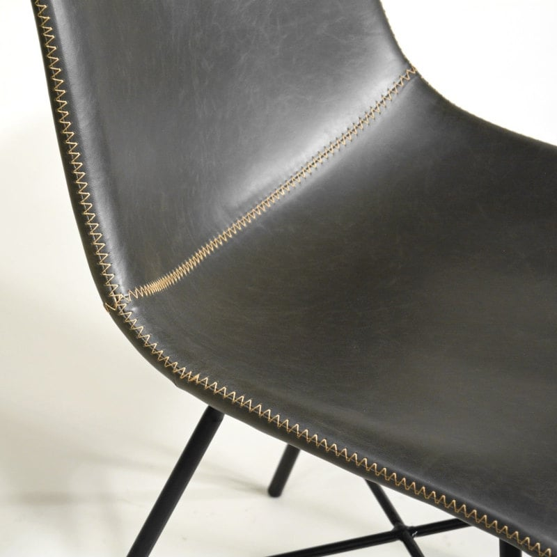 Industrial Vintage Stuhl grau gepolstert