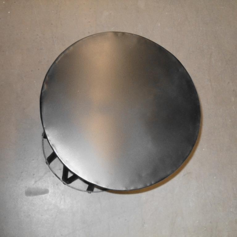 runder schwarze Metallbeistelltisch Vintage shabby