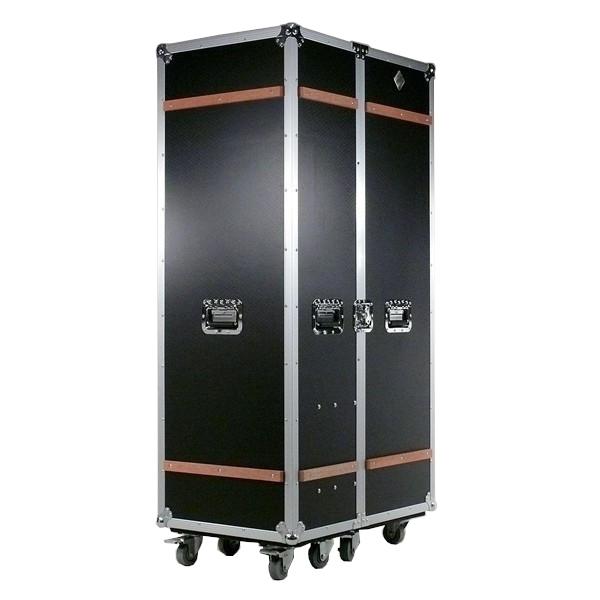 Kleiderschrank rollbar schwarz Case-Design