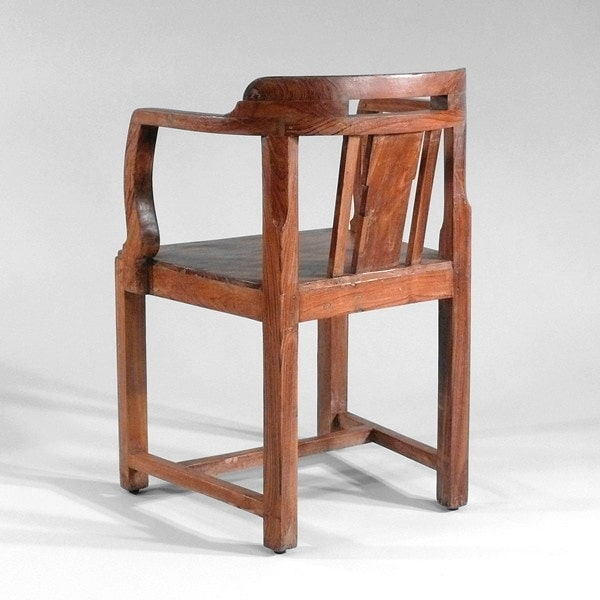 Original alter Armlehnstuhl aus Teakholz