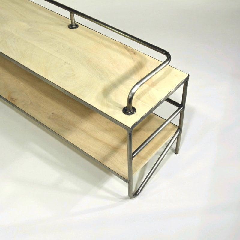 TV Tihc Regal Holz Stahlrohr Bauhaus Design