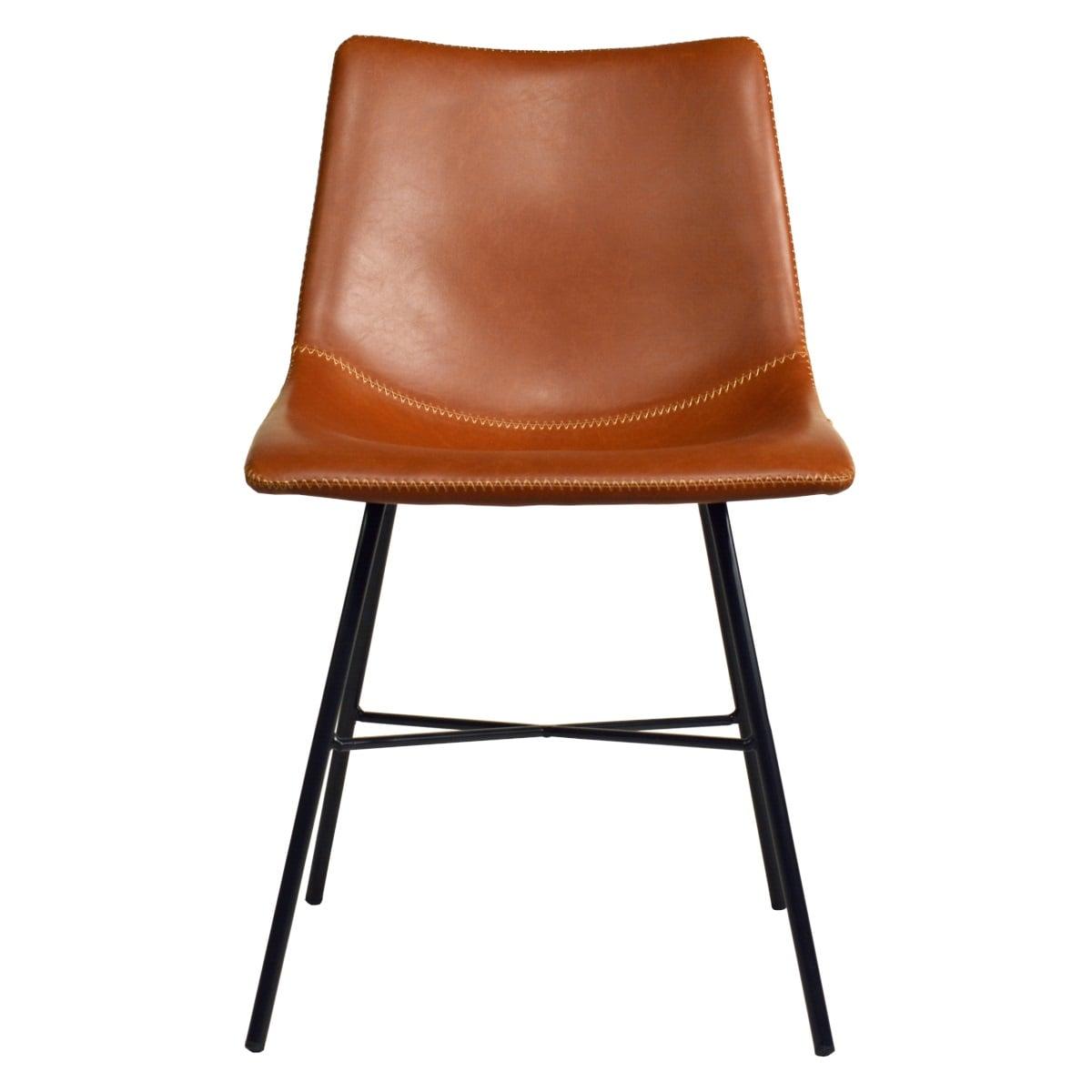 Stuhl für Gastronomie Vintage Design braun gepolstert