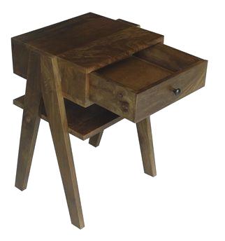 Nachttisch Vintage Holz mit Schublade