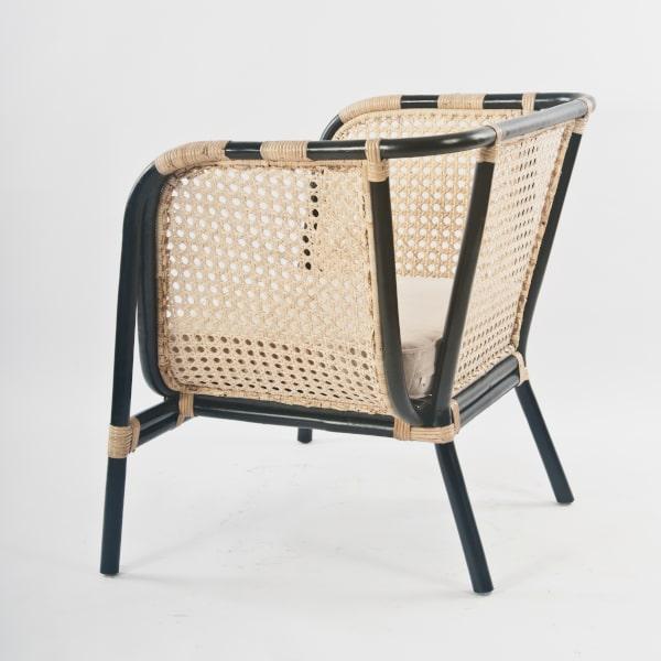 Rattan Sessel Wiener Geflecht gepolstert
