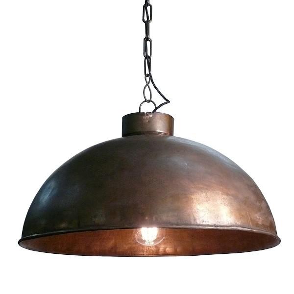 Lampenschirm kupfer-farben groß