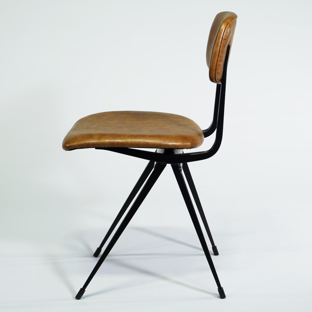 Design Stuhl Gastrostuhl braun