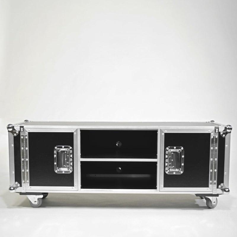 Flightcase TV Lowboard schwarz