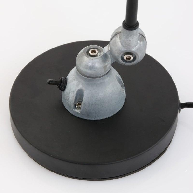 Schreibtischlampe Industrial Vintage Design schwarz