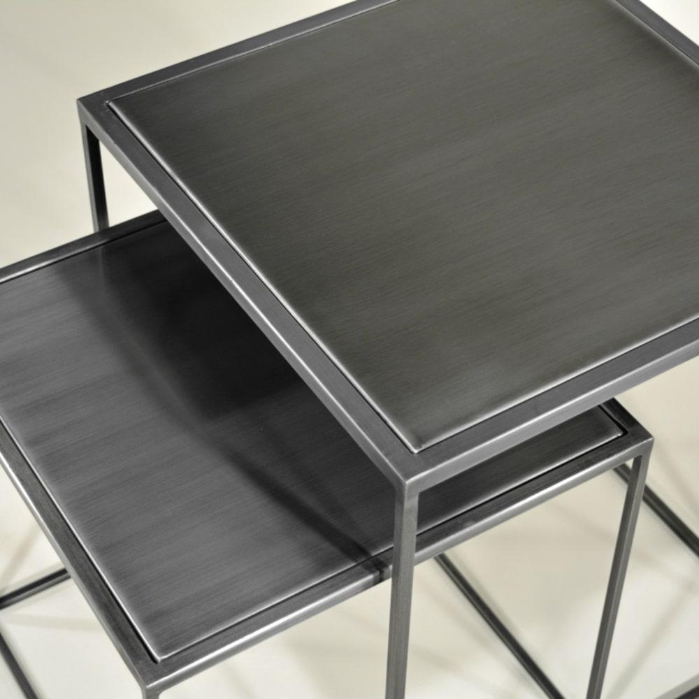 Design-Couchtische 2er Set Metall, filigran stabil