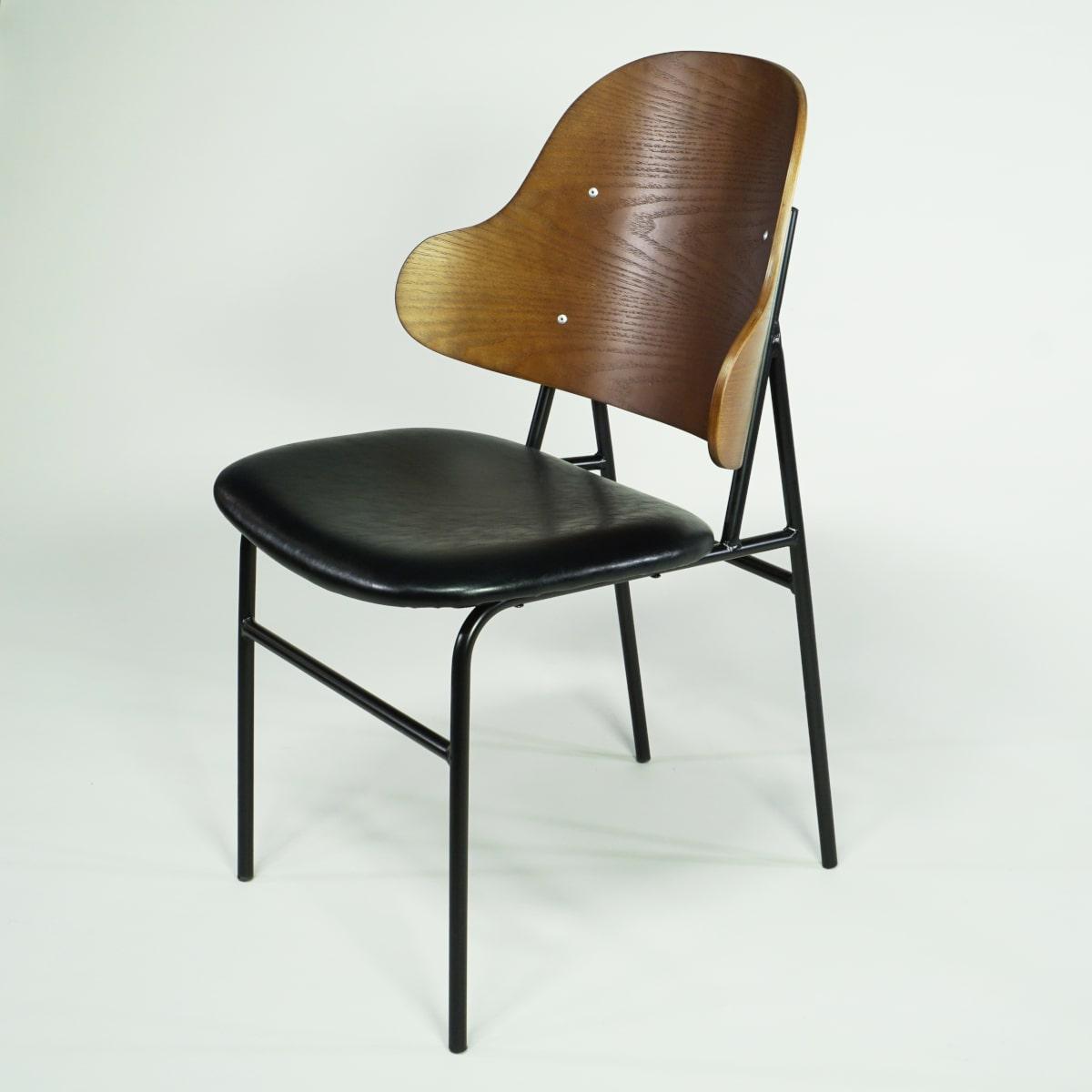 Stuhl Mid Century Design braun schwarz