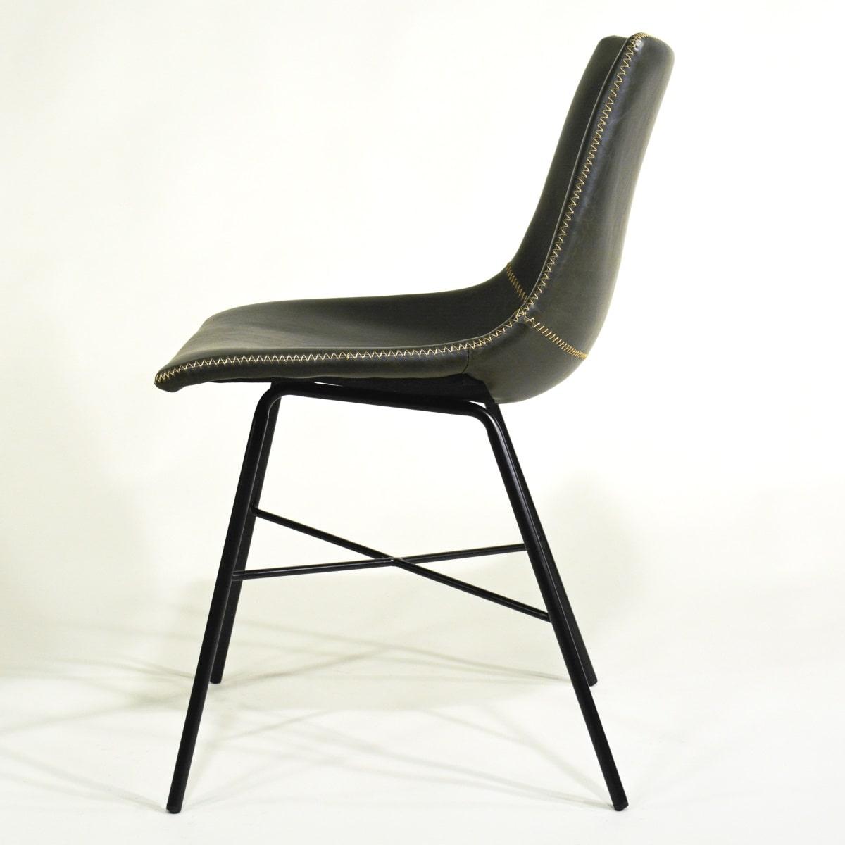 Stuhl für Gastronomie grau gepolstert Vintage Modern